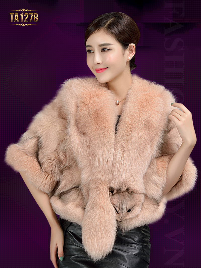 Khăn choàng lông Hàn Quốc thiết kế độc đáo TA1278