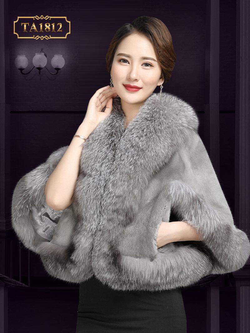 Khăn choàng lông thú TA1812 100% tự nhiên thiết kế độc quyền