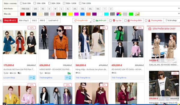Có thể mua áo khoác dạ qua một số ứng dụng trực tuyến