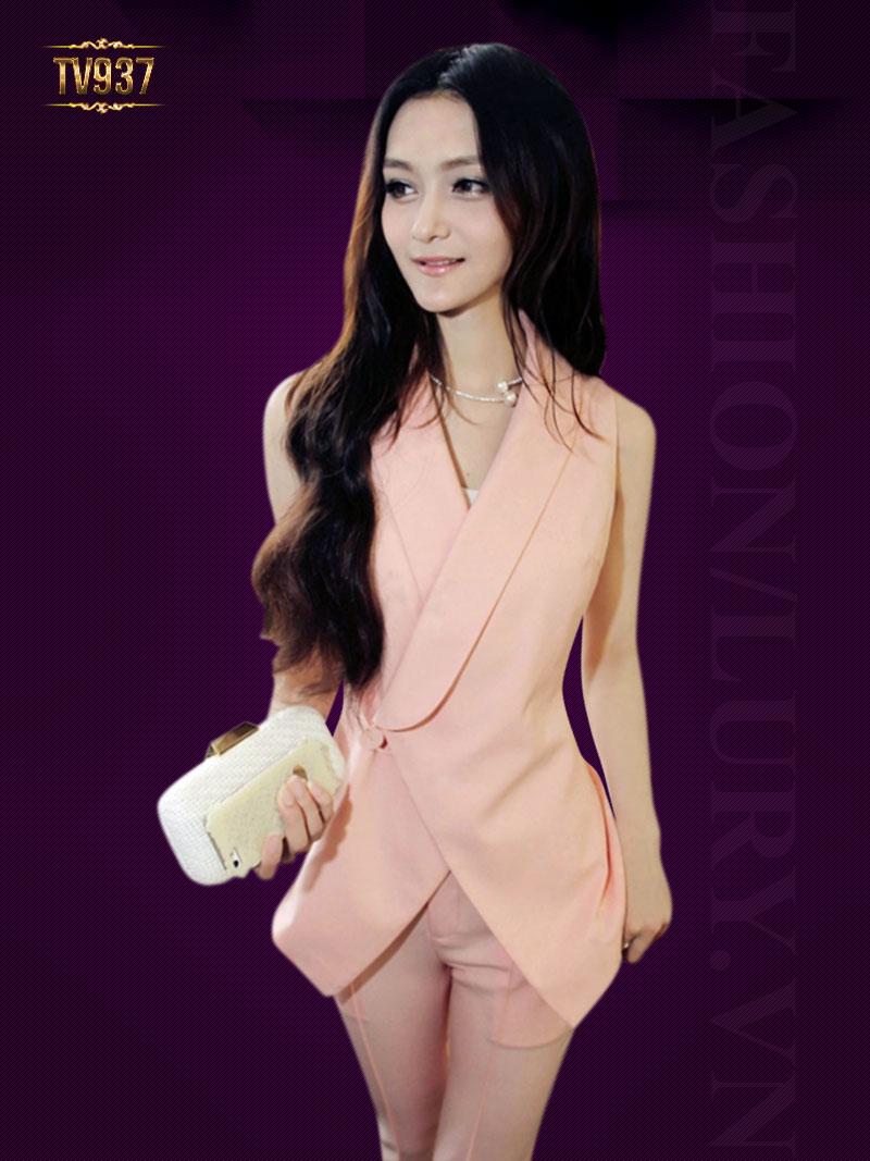 Set bộ thiết kế cao cấp áo vest ghi lê + quần âu dài thời trang TV937