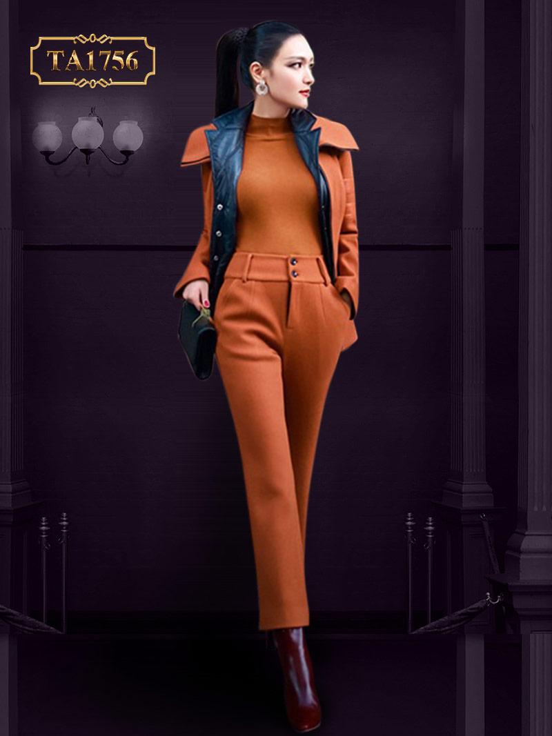 Set bộ vest 3 món cao cấp mẫu mới nhất 2019 TA1756 (Áo vest, quần dài, áo len)