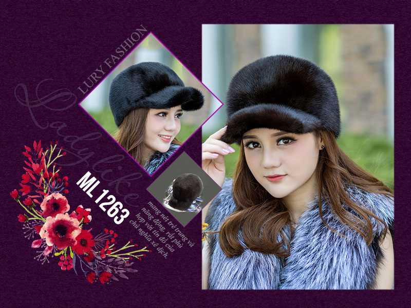 kiểu mũ lông nữ ladylike đẹp